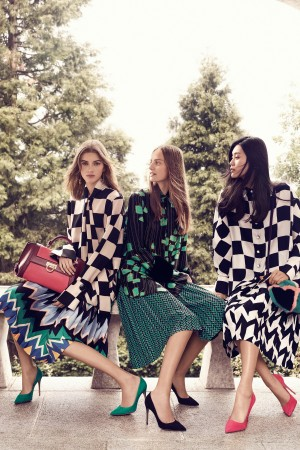 An image from the Salvatore Ferragamo Ad Campaign for fall.