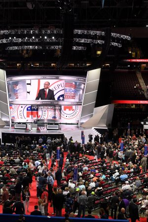 Delegates at the Republican National Convention in Cleveland.