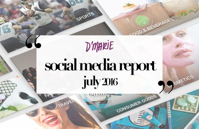 D'Marie Analytics social media report