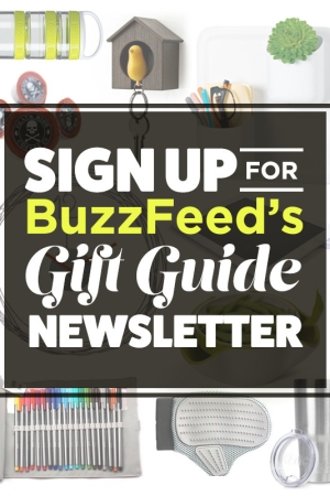 A teaser for BuzzFeed's new gift guide newsletter.