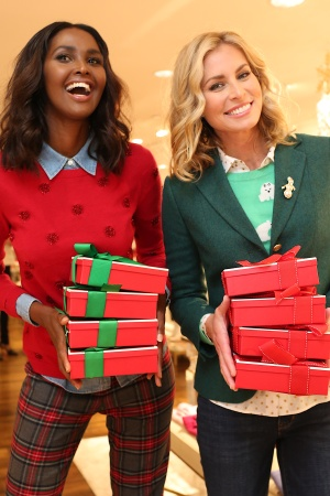 Ubah Hassan and Niki Taylor at Talbots' holiday 2016 preview on Madison Avenue.