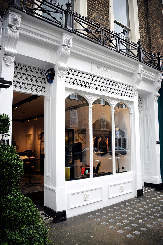 The Place, a new men's wear boutique in London.