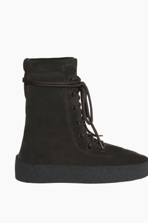 A military crepe boot from Kanye West's Yeezy Season 2 line.