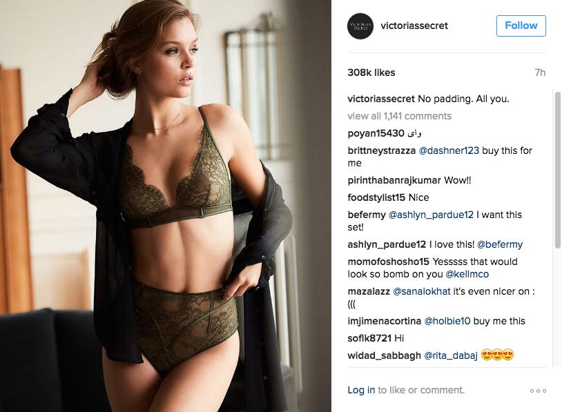 l2 Victoria's Secret Instagram brands.