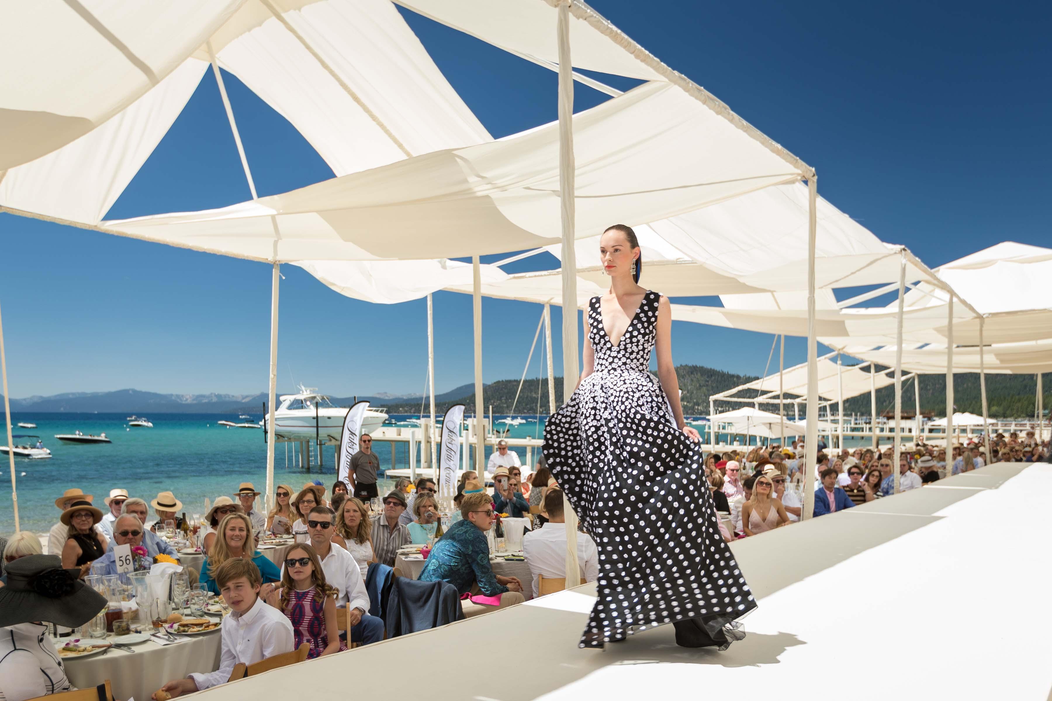 Oscar de la Renta Saks Fifth Avenue Lake Tahoe benefit fashion show 2016