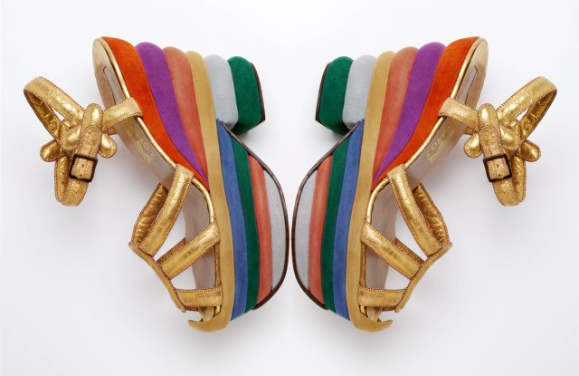 """Ferragamo wedges to be featured in """"Shoes: Pleasure and Pain."""""""