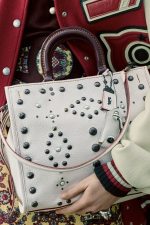 Coach's Western Rivets Rouge bag in pebble leather.