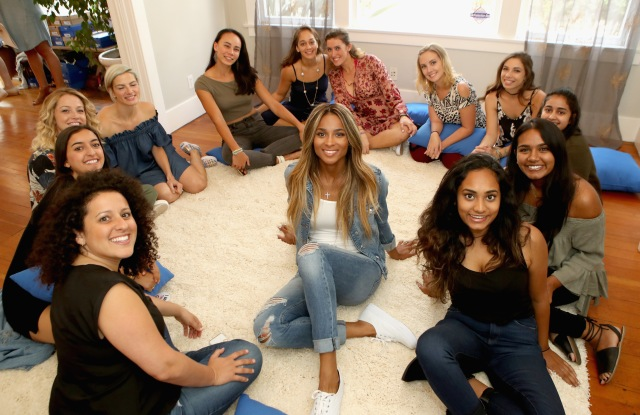 Ciara with young women from I Am That Girl at Keds' Women's Equality Day event.