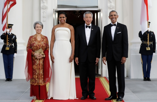 President Obama, Singapore Prime Minister Lee Hsien Loong, his wife Ho Ching and First Lady Michelle Obama.