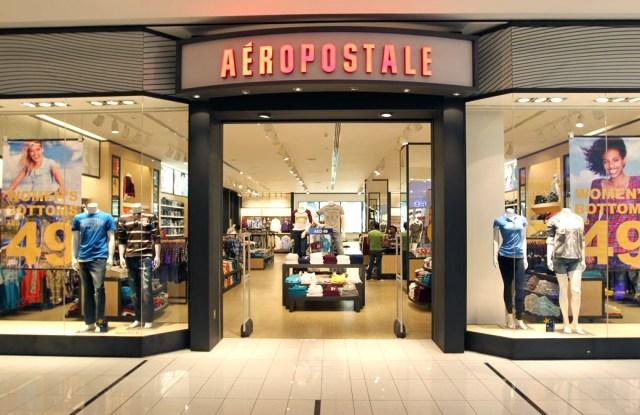 An Aéropostale store front.