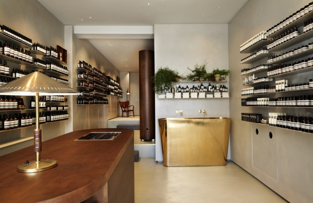 The Aesop boutique in Frederiksberg designed by Ilse Crawford.