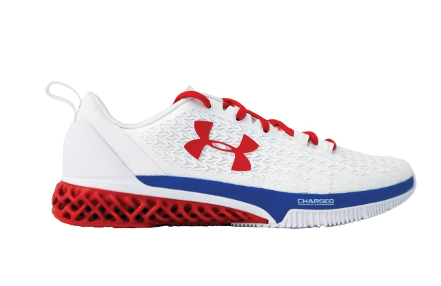 The 3-D Printed Michael Phelps Sneaker by Under Armour.