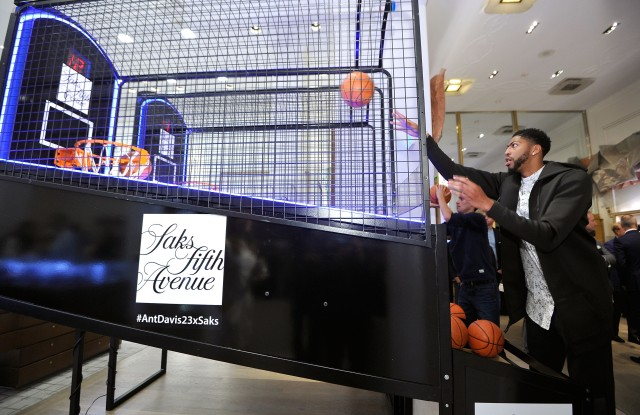 Anthony Davis at Saks Fifth Avenue in Beverly Hills.