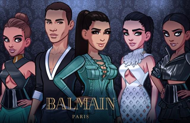 Balmain Paris adds spring/summer 2016 looks to Kim Kardashian: Hollywood game.