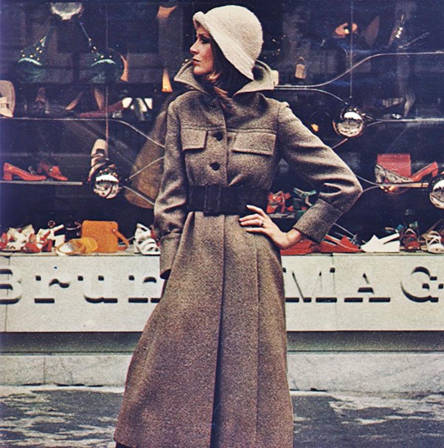 A Bruno Magli 1970 ad campaign.