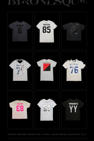 Byronesque's T-shirt collection.