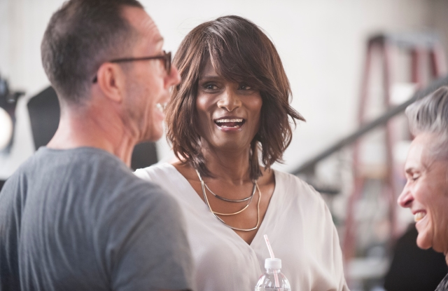 Tracey Africa Norman on the set for Clairol's new campaign
