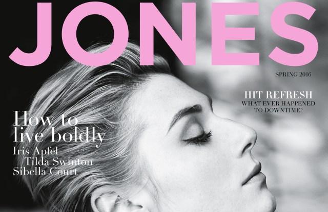 The inaugural issue of Jones magazine featuring Elizabeth Debicki