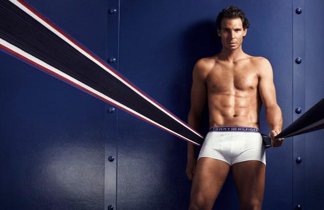 Rafael Nadal in Hilfiger's fall underwear campaign.