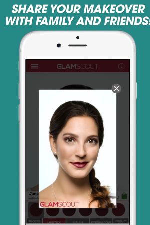 Users can share looks with GlamScout.