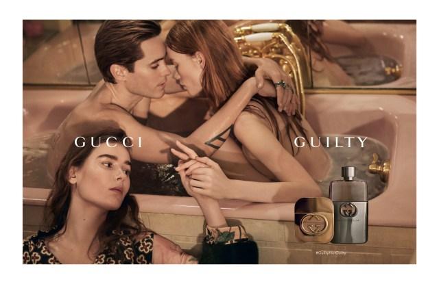 The Gucci Guilty ad campaign.