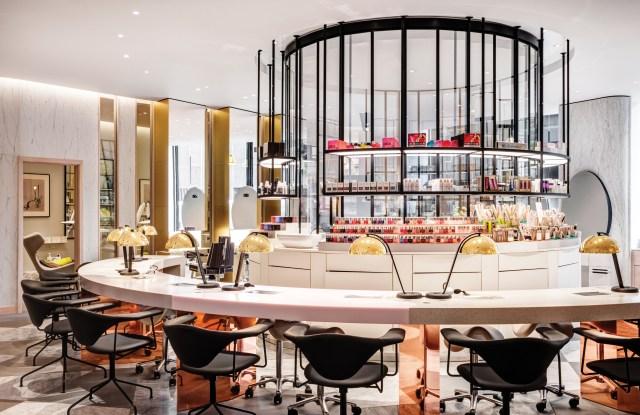 Harvey Nichols' Beauty Lounge Nail Bar.