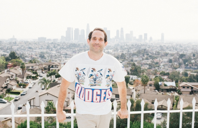 Dov Charney at his Silver Lake home.