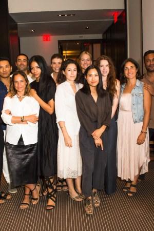 The participants in the CFDA + Lexus Fashion Initiative.