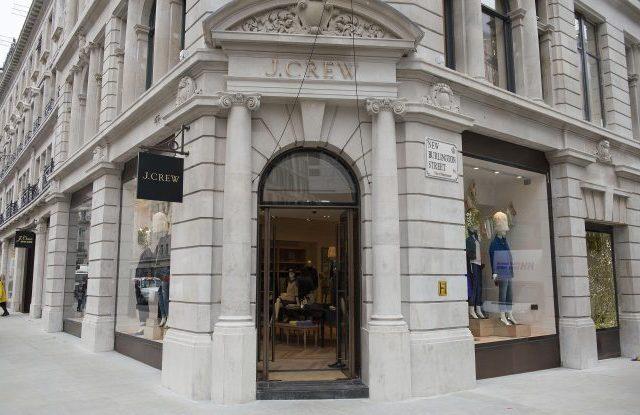 Outside the J. Crew store on Regent Street.