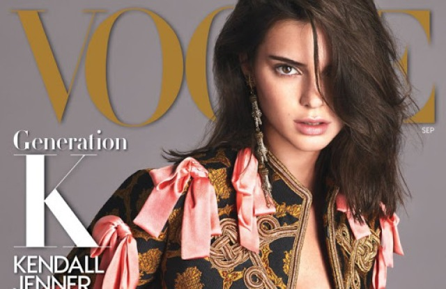 Kendall Jenner on Vogue's September cover.