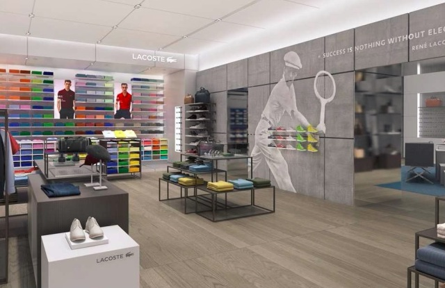 A rendering of the Lacoste store in Westfield World Trade Center.
