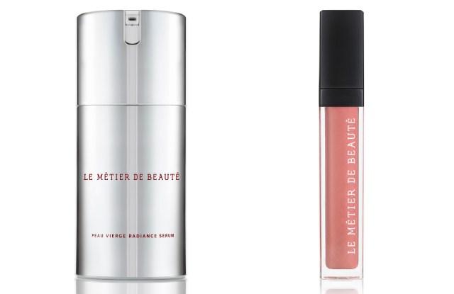New products from Le Métier de Beauté: Peau Vierge Radiance Serum and Moisture Matte Lip Crème.