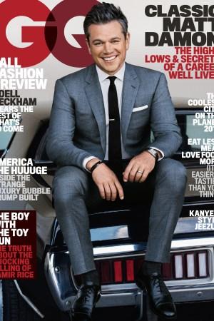 Matt Damon on GQ August 2016 cover.