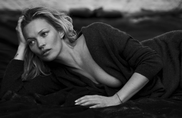 Kate Moss featured in Naked Cashmere campaign.