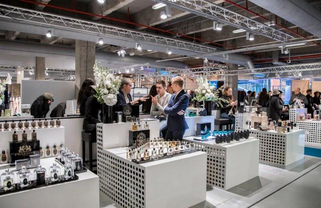 Perfumes on display at Tranoï in Paris.
