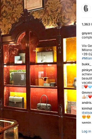 Photo taken from Goyard's Official Instagram Account