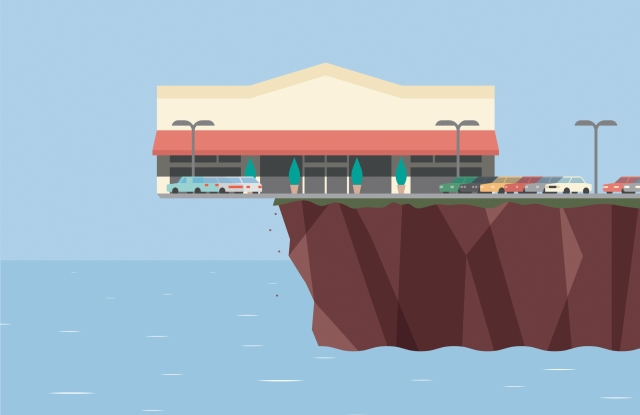Retailers are imperiled by the shifting tides, but could also be energized by the open water.