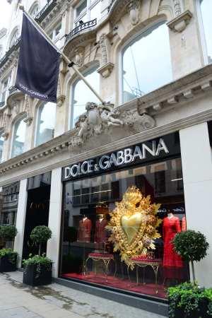 A Dolce & Gabbana store in London.