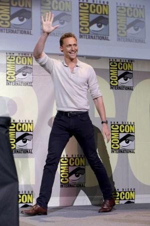 Tom Hiddleston at Comic-Con International in July.