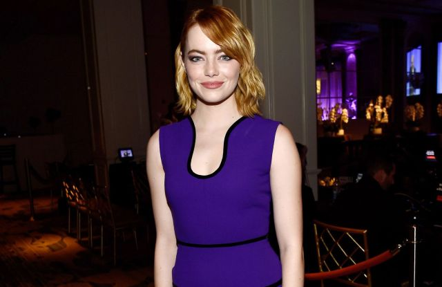 Hollywood Foreign Press Association Grants Banquet, Cocktail Reception Emma Stone