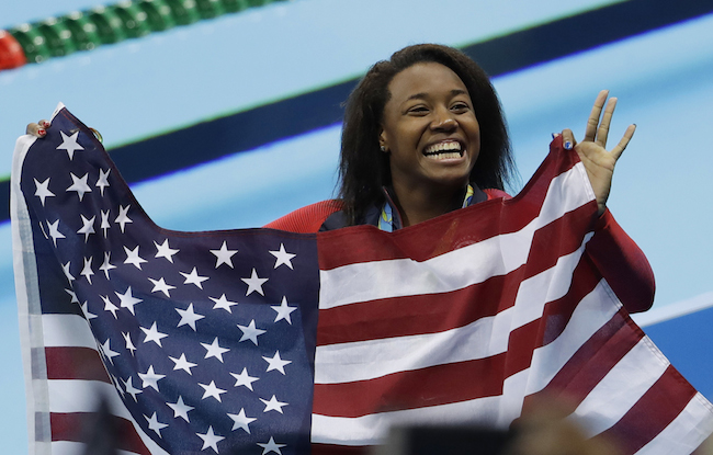 Simone Manuel at the Rio 2016 Olympic Games