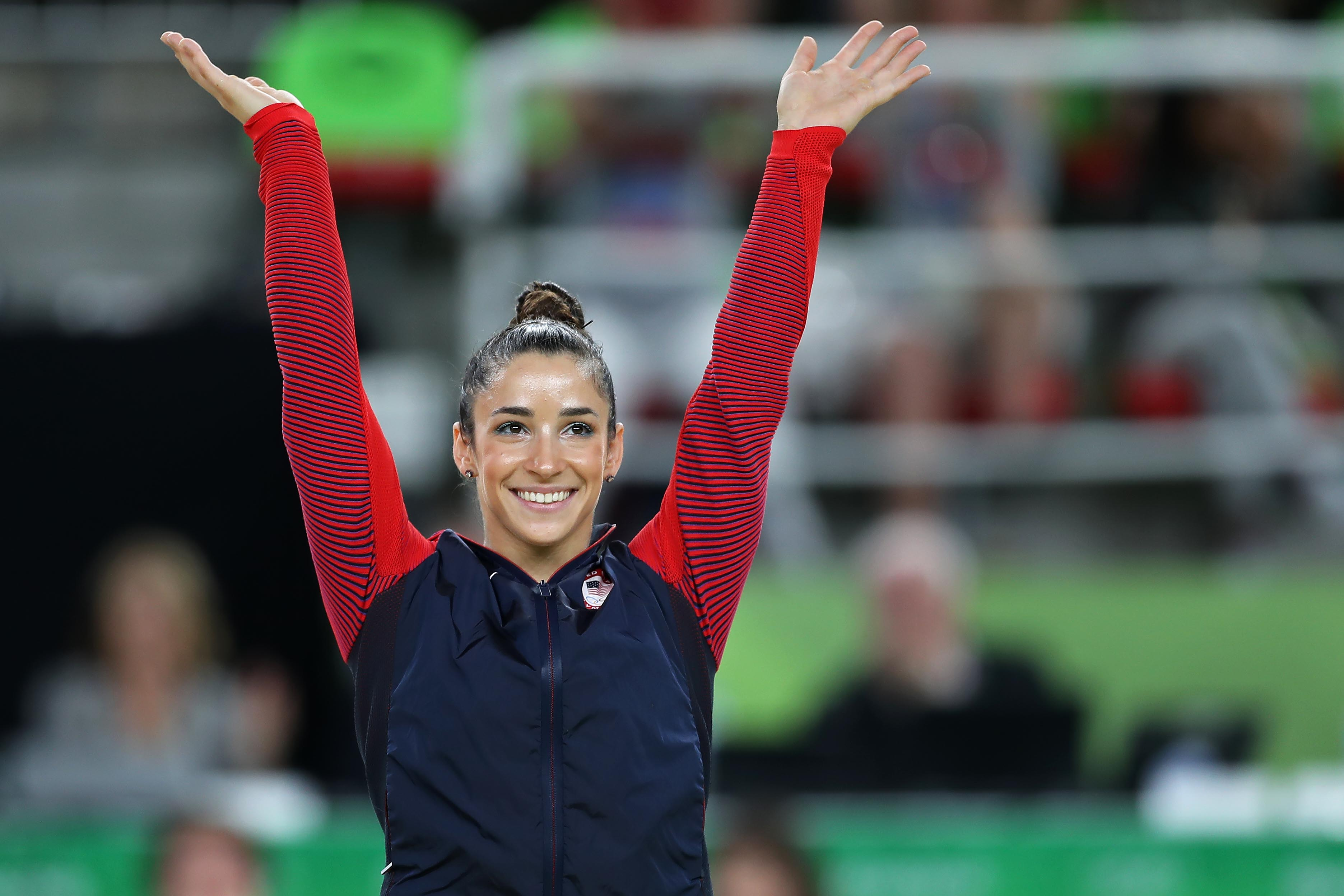 Aly Raisman at Rio 2016 Olympic Games, Artistic Gymnastics, Women's Floor Exercise, Rio Olympic Arena, Brazil - 16 Aug 2016