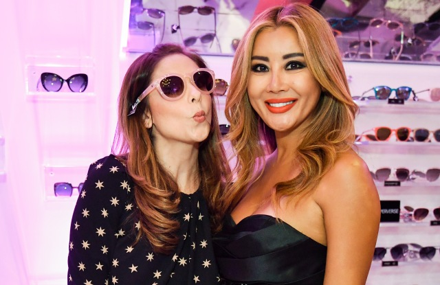 Sarah Michelle Gellar and Toni Ko at the Perverse showroom in downtown Los Angeles.
