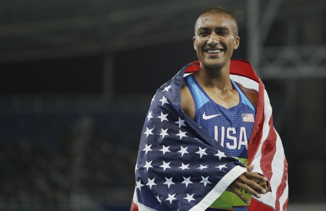 Ashton Eaton after his gold medal win in Rio.