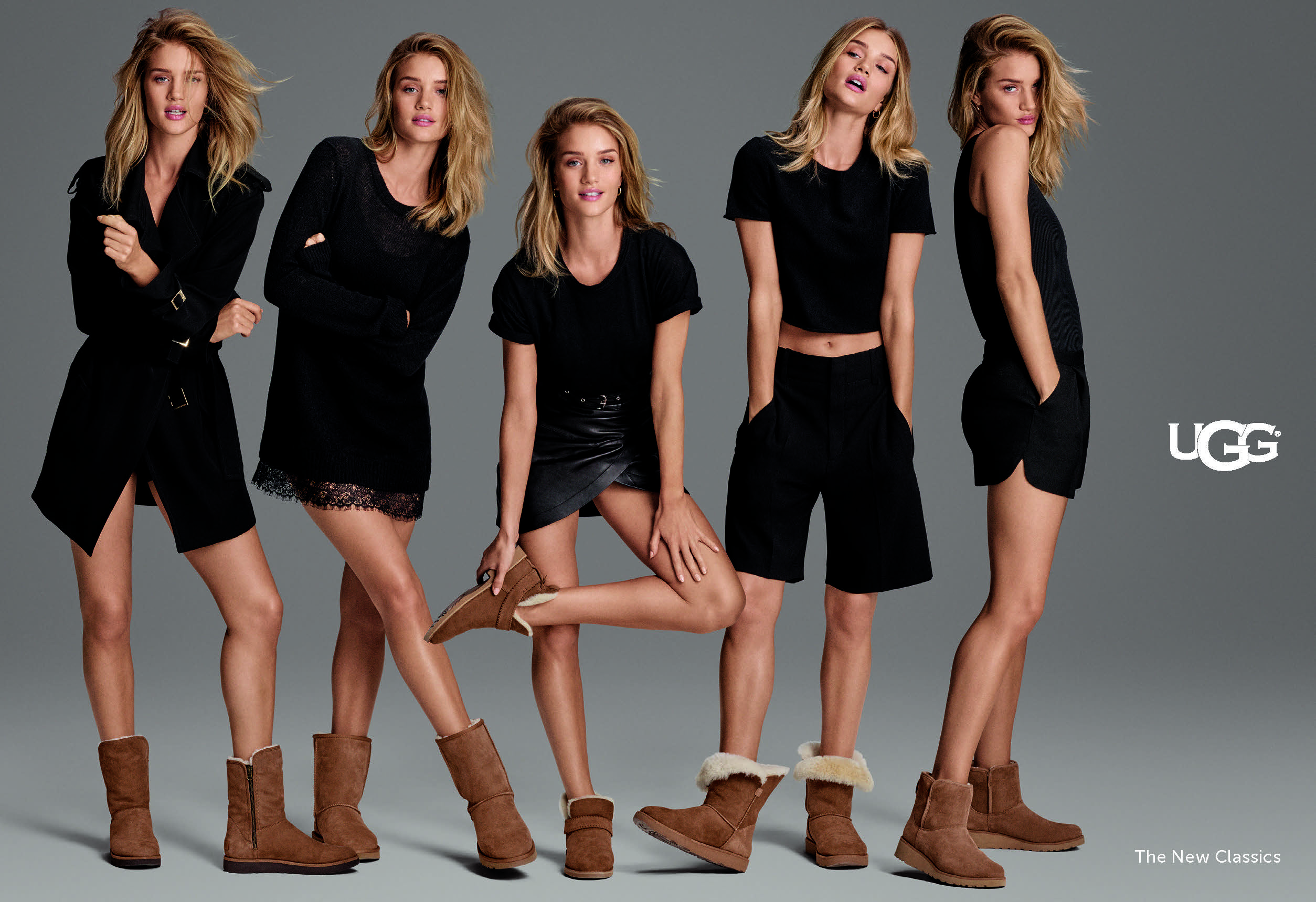 Rosie Huntington-Whiteley in the Ugg campaign.