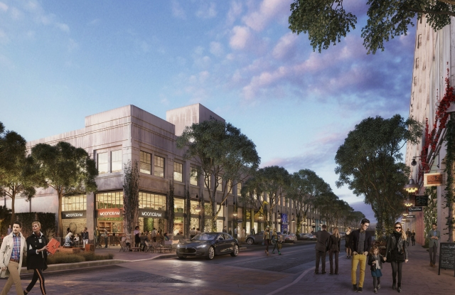 A rendering of the Row DTLA project in Los Angeles.