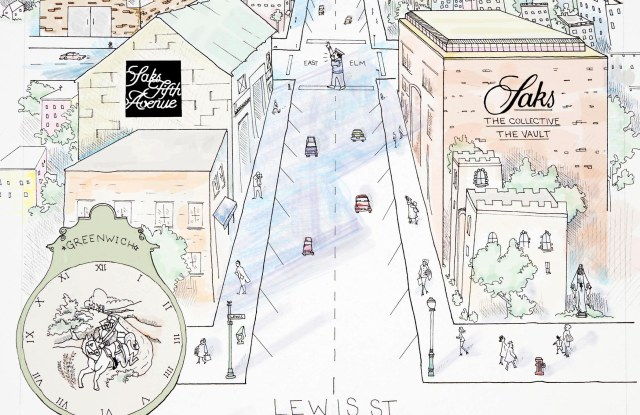 From the marketing campaign, a map of The Saks Shops in Greenwich.
