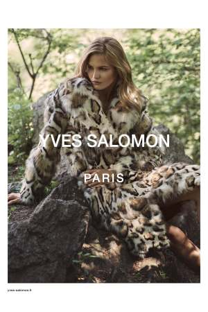 An image from the Yves Salomon fall 2016 campaign