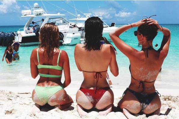 Hailey Baldwin, Kylie Jenner and Bella Hadid, from Hadid's Instagram.