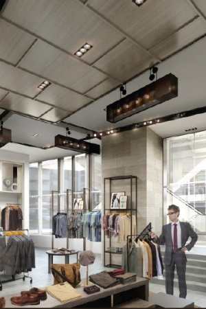 A rendering of Banana Republic's store at Westfield World Trade Center.